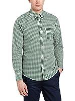 Ben Sherman Camisa Hombre Ls Gingham (Verde / Blanco)