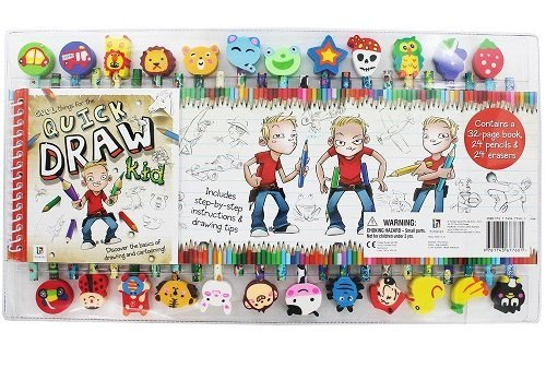 Quick Draw Kid Basic Drawing & Cartooning Kit - 1