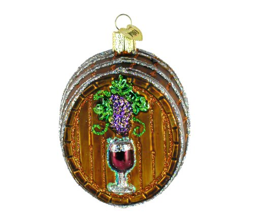 Old World Christmas Wine Barrell Ornament