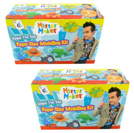 Mister Maker Paper Clay - 2 Packs of Air Drying Clay - Easy to Use, Quick Drying Paper Based Modeling Clay - Great for Parties, Stocking Fillers, Gifts