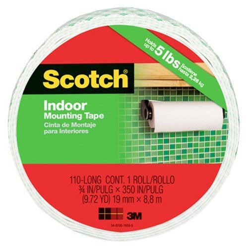 3M Mounting Tape, 3/4-inch x 350 Inches (110-Long) (Foam Tape Removable compare prices)