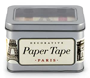Cavallini Paris Decorative Paper Tape - 5 assorted paper tape rolls (16 yards per roll)