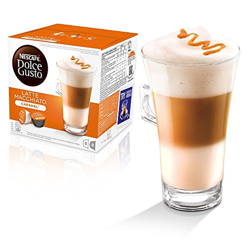 Shop for Nescafe Dolce Gusto Coffee Pods Capsules CARAMEL COLLECTION , Latte Caramel + Chococino Caramel, Pack of 2, 32 pods, 16 servings from HomeBuy