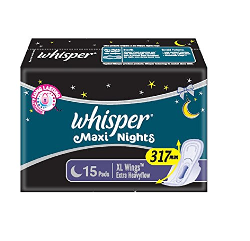 Whisper Maxi Overnight Sanitary Pads XL Wings