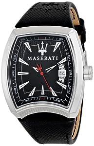 Reloj Maserati 47mm piel negra