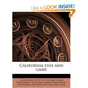 California Department Fish  Game on Fish And Game  California  Dept  Of Fish And Game  California  Fish