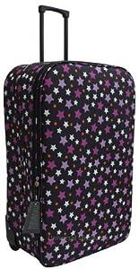 Xxl Extra Large 30 Inch Stars Super Lightweight Wheeled Suitcase Luggage Black Stars