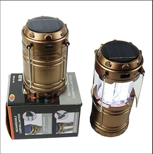 Solar LED Emergency Light + USB Mobile Charger, 3 Power Source Hiking Lantern, Solar, Battery, Lithium Battery, Travel Lantern