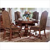 Round Pedestal Dining Table by Hooker Furniture - Wood Tones (366-75-201)
