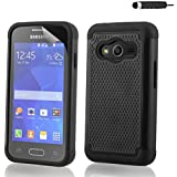 32nd® Shock proof rubber case cover for Samsung Galaxy Ace 4 SM-G313 + screen protector and cloth - Black