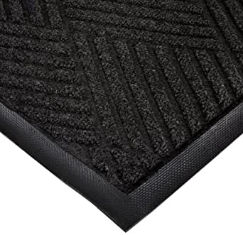 """Notrax 168 Opus Entrance Mat, for Heavy Traffic Areas, 4' Width x 6' Length x 3/8"""" Thickness, Charcoal"""