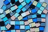 100 Stück Spiegelmosaik Steine Buntmix 10 Farben a 1x1cm ca. 120g.