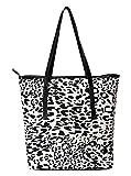 Ananta Women's Tote Bag (White and Black)