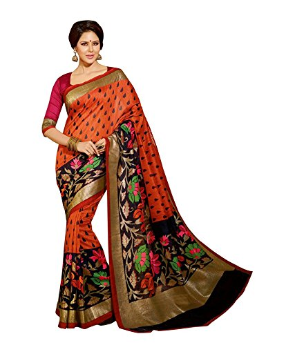 Indian-Unique-Fashion-New-Best-Look-Traditional-Art-Printed-Bhagalpuri-Silk-Sari-and-New-Pattern
