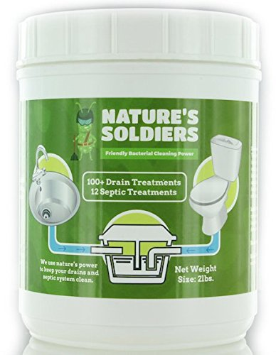 Drain Cleaner and Septic Tank Treatment 2 lb. Safe Natural Enzymes. Powerful Bacteria.Nature's Soldiers. (Nature 2 Stick compare prices)