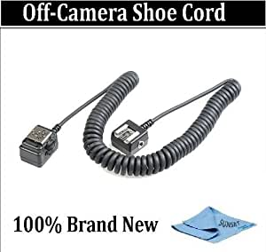 Off Camera Shoe Cord For The Sony ALPHA DSLR-A380, DSLR-A330, DSLR-A230, DSLR-A700, DSLR-A350, DSLR-A300, DSLR-A200, DSLR-A100 Which Have Any Of These (HVL-F58AM, F56AM, F42AM, F36AM, F20AM, F32X, F1000)