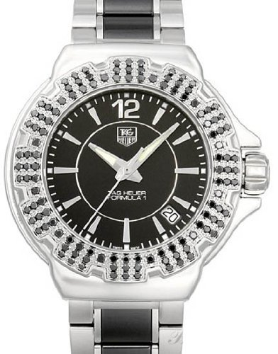 TAG HEUER F1 WAH1216.BA0859 LADIES DIAMONDS STAINLESS STEEL CASE DATE WATCH
