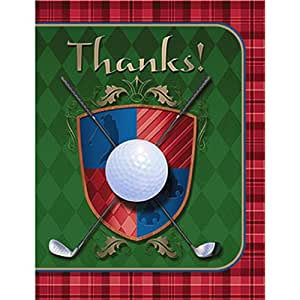 Shindigz 8 Golf Thank You Notes