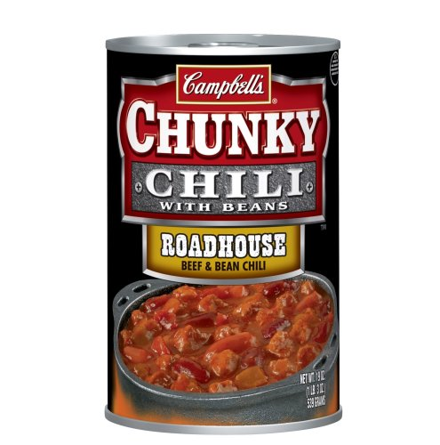 Campbell's Chunky Roadhouse Beef & Bean Chili, 19-Ounce Cans (Pack of 12)