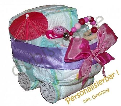 kleine windeltorte kinderwagen raphaela rosa aus original. Black Bedroom Furniture Sets. Home Design Ideas