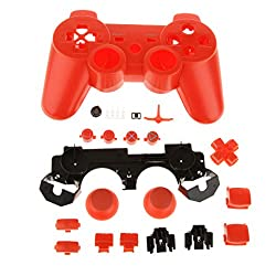 Generic Orange-Replacement Full Housing Shell Case Skin Mod Kit for PS3 Controller Full Access Protective