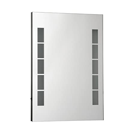 Protege Homeware Aluminium/Glass Malana Illuminated Wall Mirror