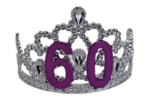 Big Mouth Toys 60th Birthday Silver Tiara