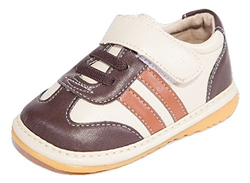 Brown and Tan Boy Sneaker Squeaky Shoes (6)