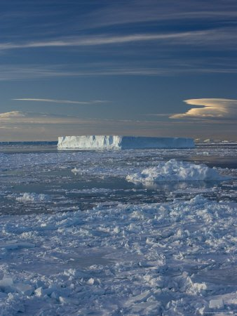 ceberg and Pack Ice, Weddell Sea, Antarctic Peninsula, Antarctica