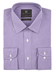 Cotton Rich Easy to Iron Mini Gingham Checked Shirt