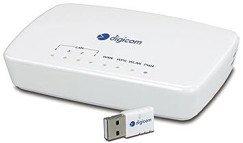 Digicom 8E4466 - Router (10, 100 Mbit/s, 10/100Base-T(X), 802.11n, 150 Mbit/s, Ethernet (RJ-45), IEEE 802.11n, IEEE 802.3, IEEE 802.3u) Color blanco