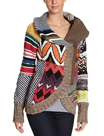 Desigual Damen Strickjacke 17J2124: Amazon.de: Bekleidung