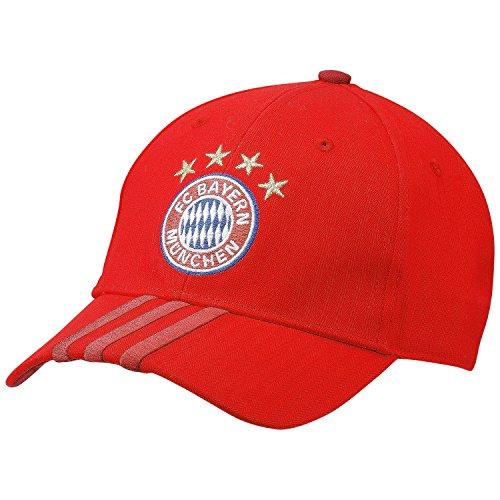 Adidas, Cappellino FC Bayern, Rosso (True Red/Craft Red/White), Taglia unica