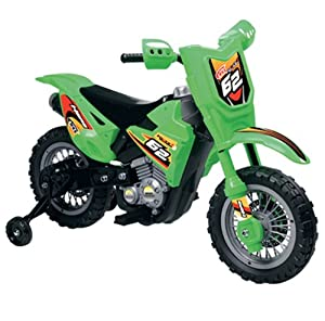 Vroom Rider VR098 6V Battery Operated Dirt Bike, Green