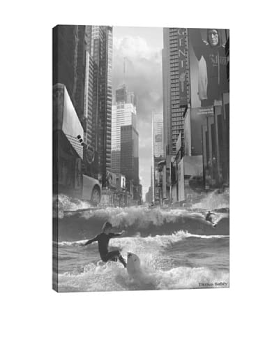 Thomas Barbèy Swell Time In Town Canvas Print