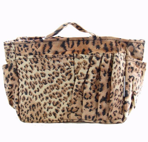 The Plaid Purse Bag Organizer – Brown Leopard Print