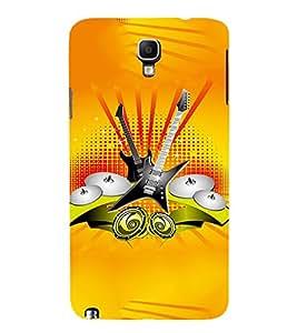EPICCASE Florence Orange Band Mobile Back Case Cover For Samsung Galaxy Note 3 Neo (Designer Case)