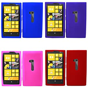 Amazon.com: iFase Brand Nokia Lumia 920 Combo Solid Blue + Solid Red