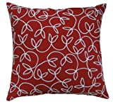 Jovi Home 18-Inch by 18-Inch Montgomery Pillow Red