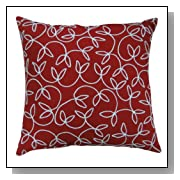 Bright Red 18-Inch Decorative Accent Pillow