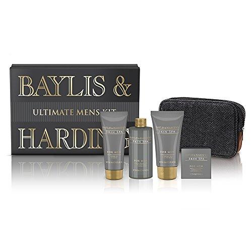 baylis-harding-coffret-cadeau-homme-4-produits-de-bain-et-rasage-et-une-trousse-de-toilette