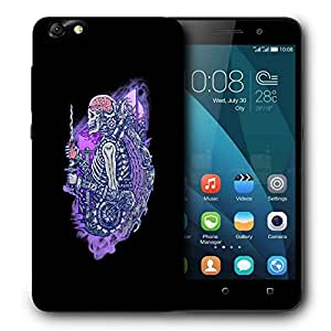 Snoogg Skeleton Machine Designer Protective Back Case Cover For HUAWEI 4X