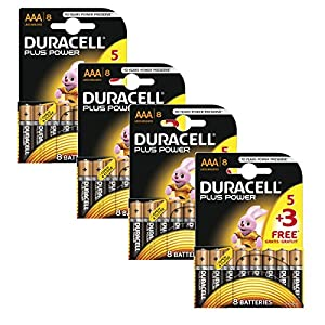 Duracell Plus Power MN2400 Alkaline AAA Batteries - 32-Pack
