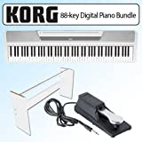 Korg SP170WH 88-key Digital Slab Piano With Speakers White Bundle
