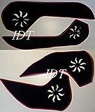 スバル SJ フォレスター 専用設計 インサイド ドア パネル ガード マット 保護カバー キックマット 赤 インテリア インナー ドア ポケット プロテクター SUBARU 内装 カスタム パーツ