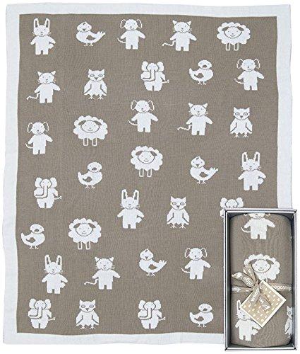 Weegoamigo Knitted Blanket- Animania Mink - 1