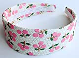 Pink Cherry Fashion Headband Hair Accessory - White