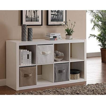 Modern Better Homes and Gardens 8-Cube Organizer, White (Storage Bookcase compare prices)