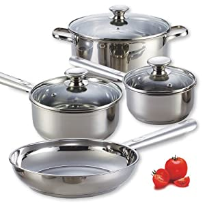 Cook N Home NC-00249 Stainless Steel 7-Piece Cookware Set by Cook N Home