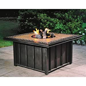 Torence outdoor gas fire pit with tile top for Amazon prime fire pit